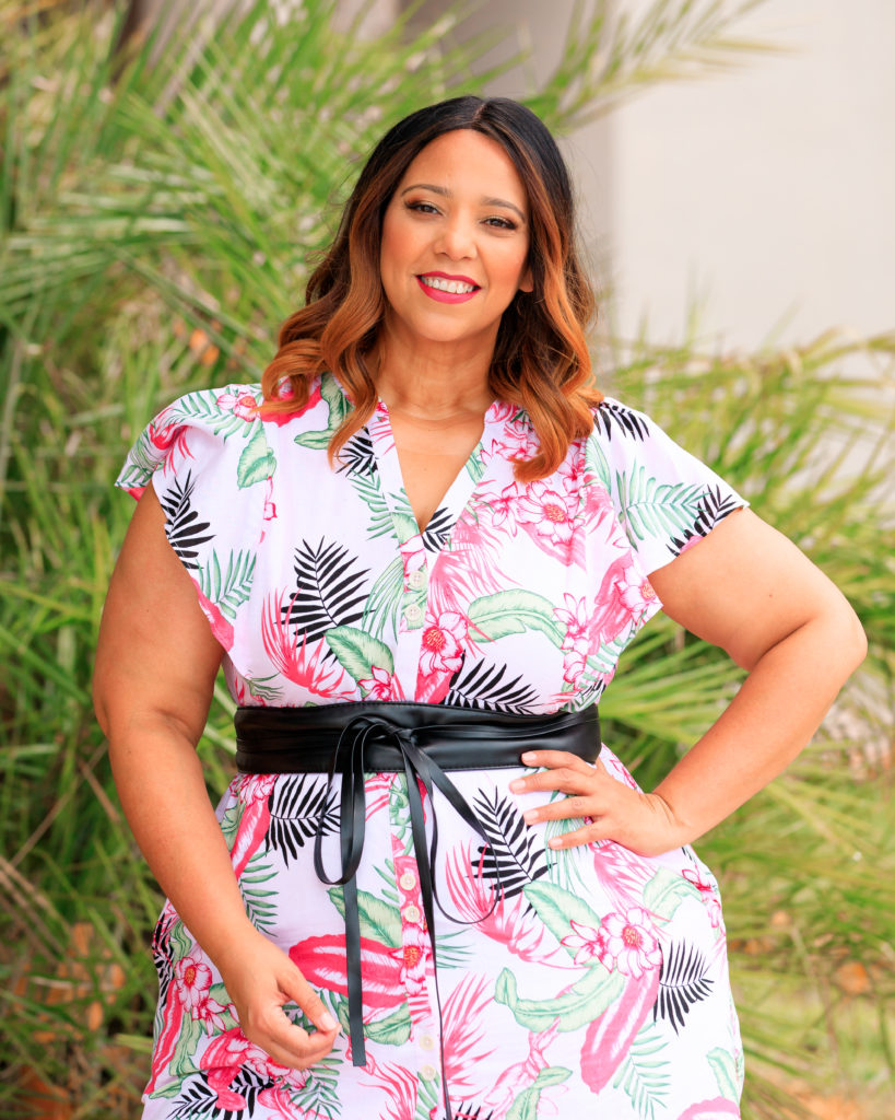 Bold Floral & Palm Print Dress From Rafaella Sportswear