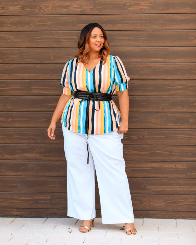 Tampa Influencer Farrah Estrella wearing Lane Bryant