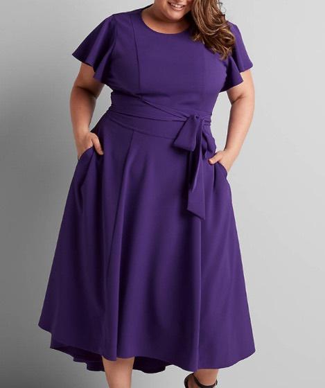 The Lane Bryant Lena Dress In purple