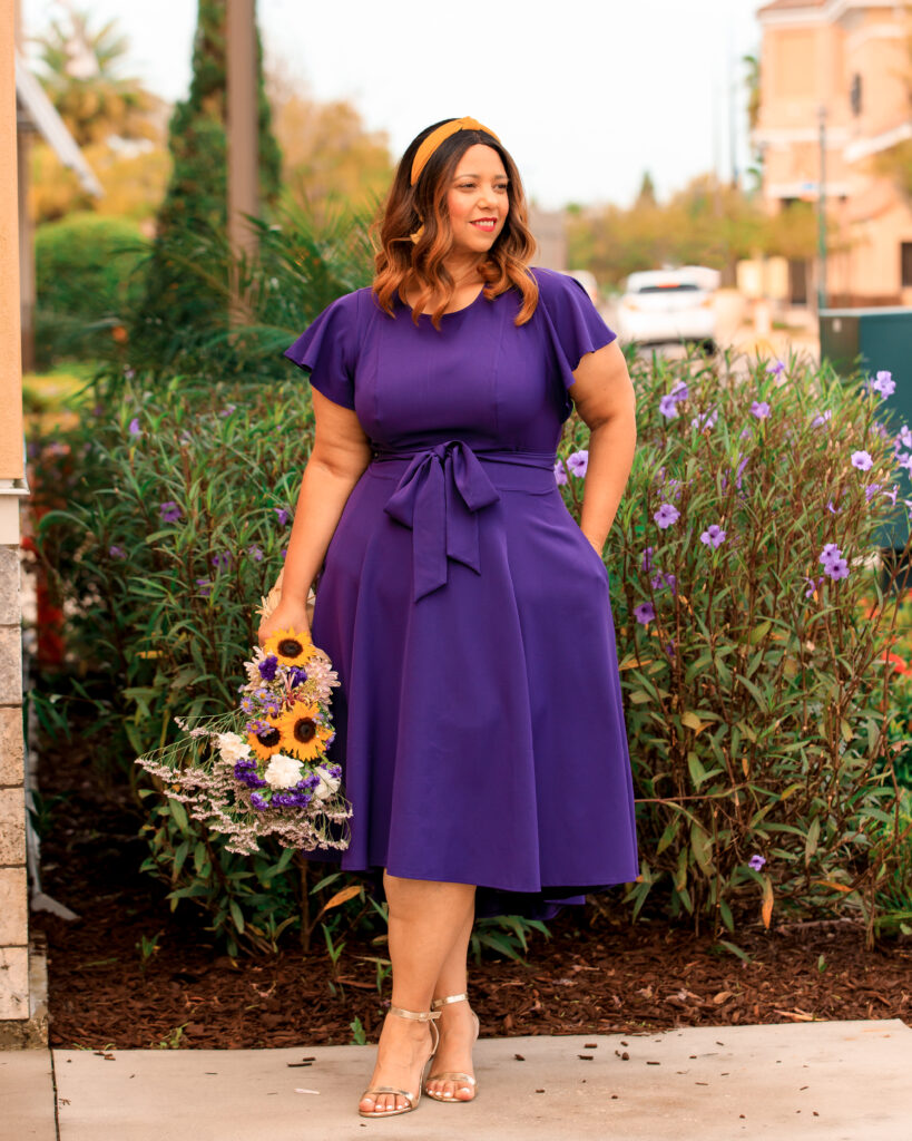 The Lena dress by Lane Bryant in Purple