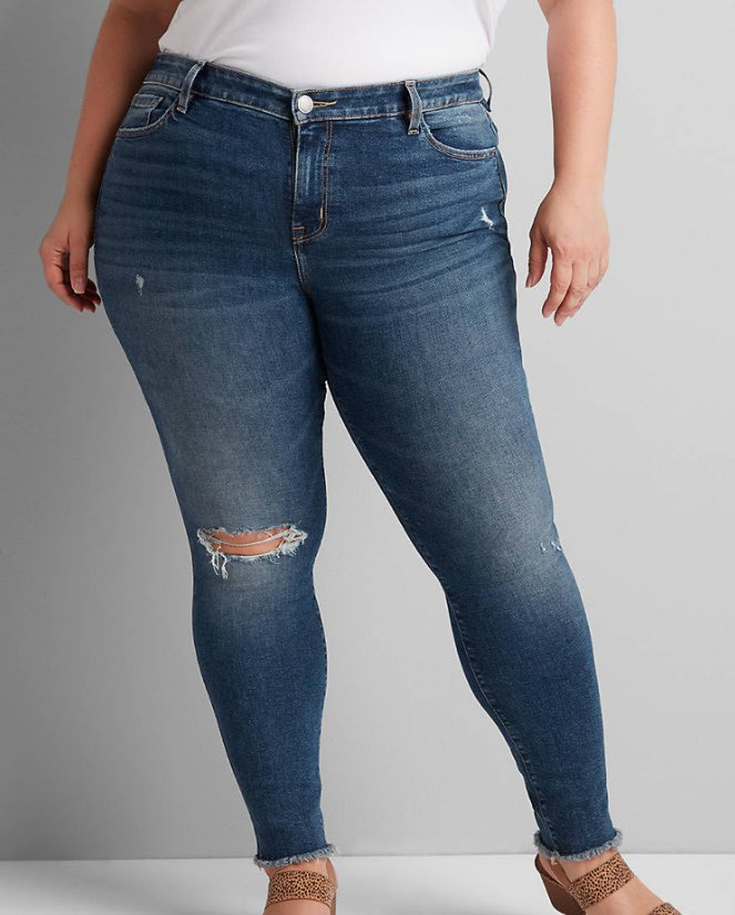 high rise skinny jeans from lane bryant in medium wash