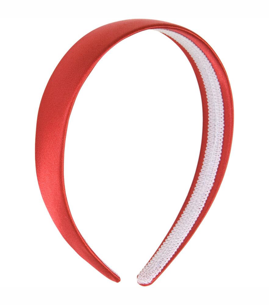 red satin headband