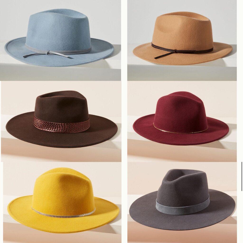 colorful fedora hats