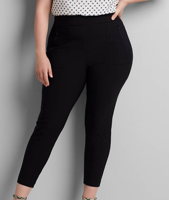 black on the go pants by lane bryant