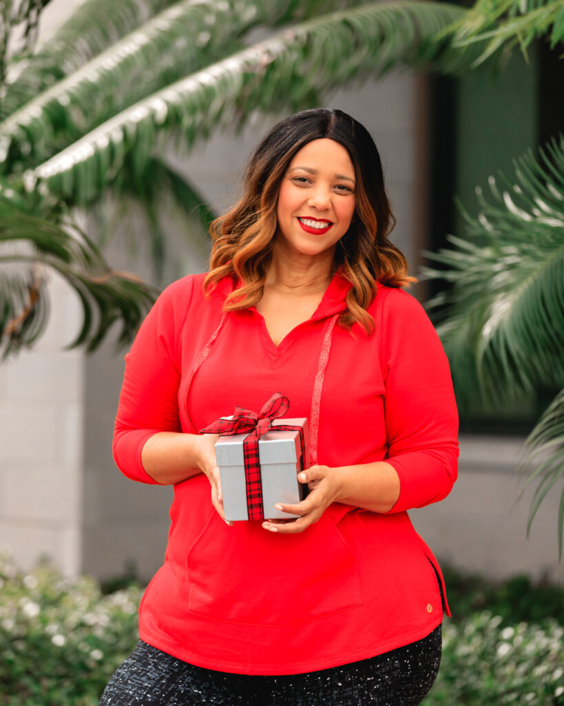 Farrah Estrella wearing Lane Bryant