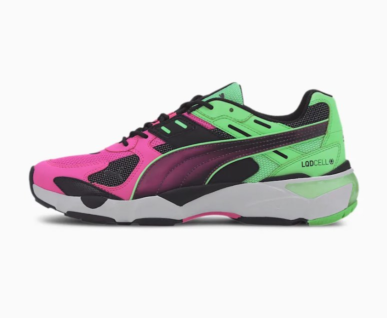 Pink/Green LQDCELL Extol Old Circuits Men's Sneakers puma