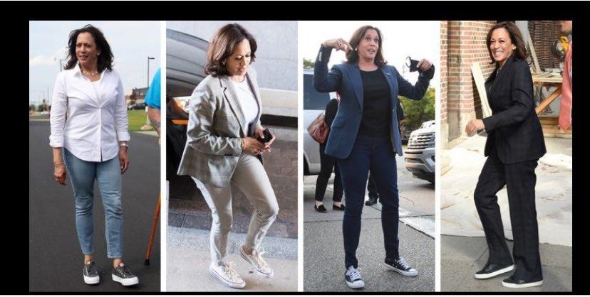 Vice-President Kamala Harris Wearing Converse