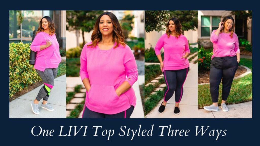 One LIVI Active Top Styled Three Ways