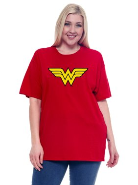 red wonder woman tshirt
