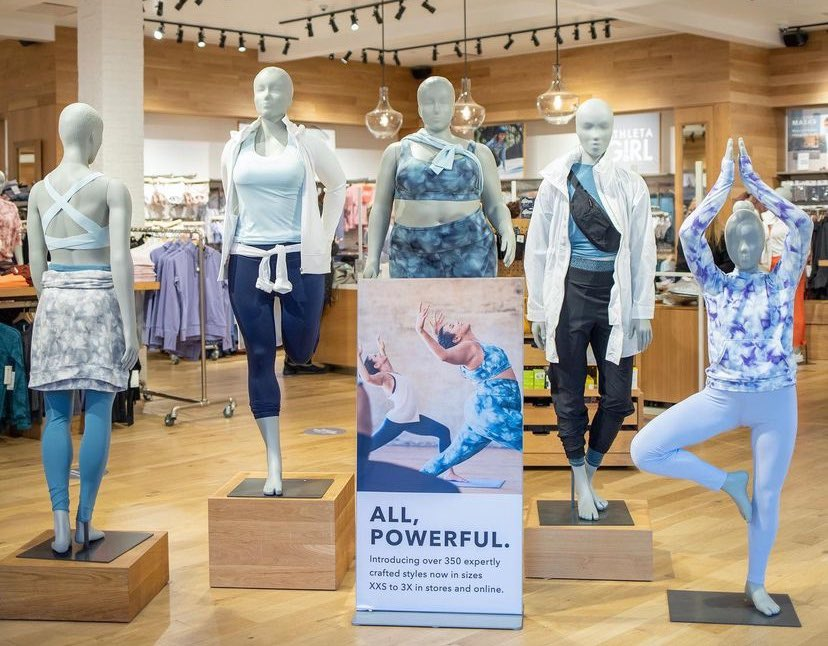 Athleta extended sizes