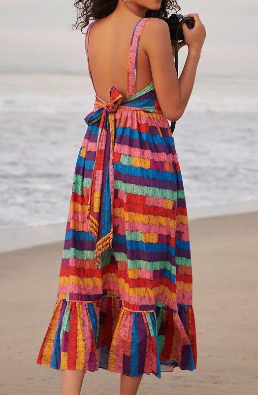 Farm Rio Soleil Embroidered Maxi Dress