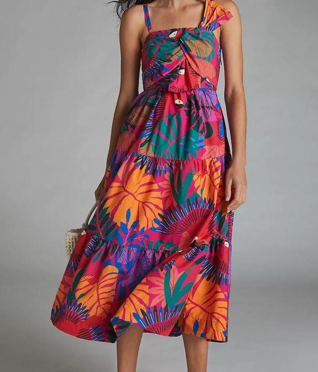 Farm Rio Macaw Maxi Dress