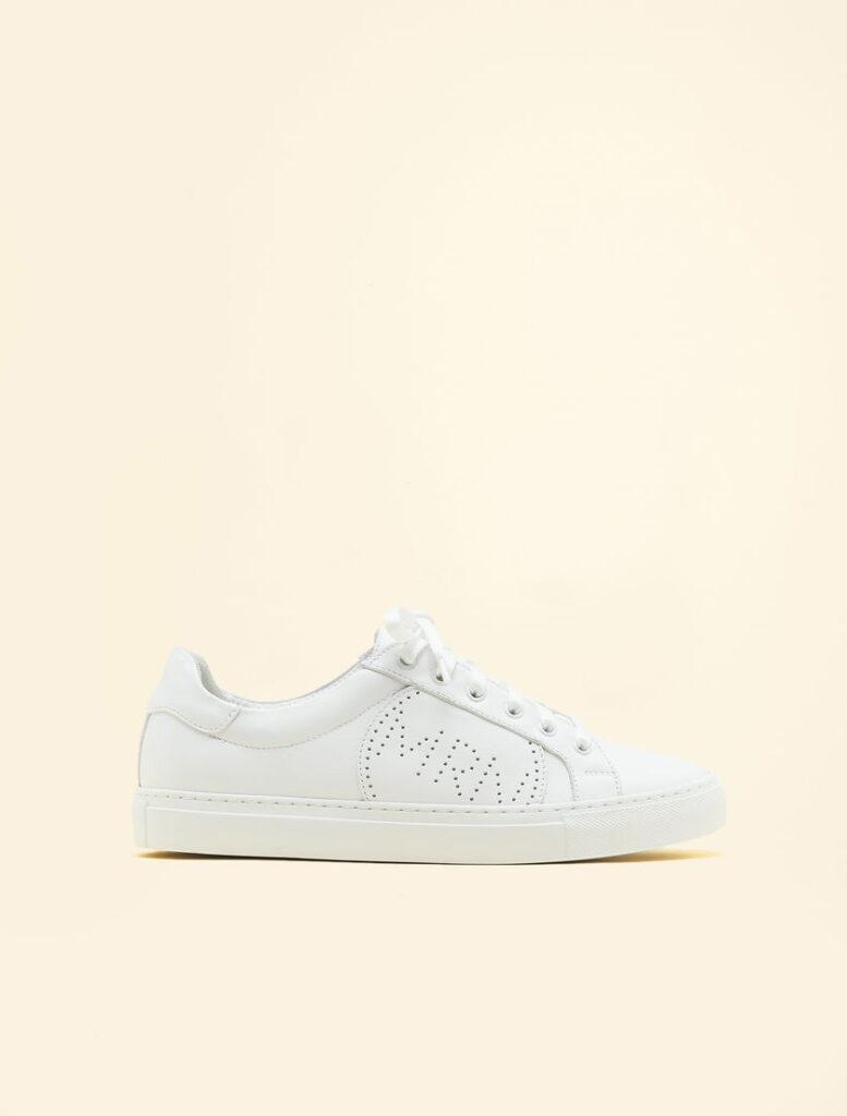 marina rinaldi white leather sneakers trainers
