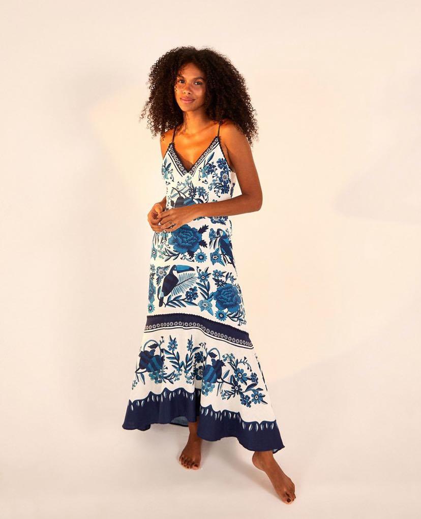 Tropical Tiles Maxi Dress