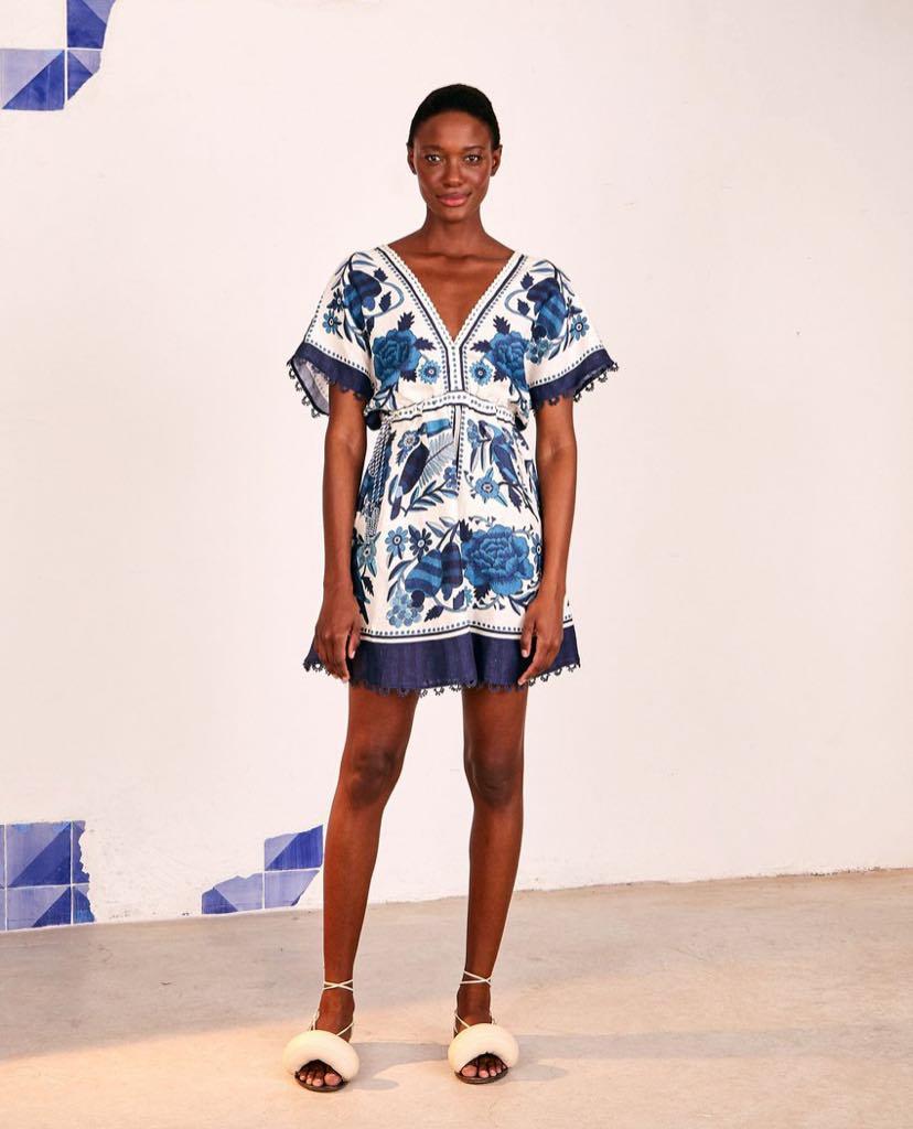 Tropical Tiles Mini Dress