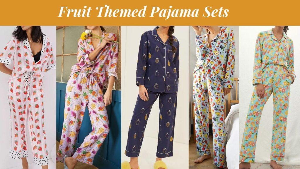 fruit themed pajama sets