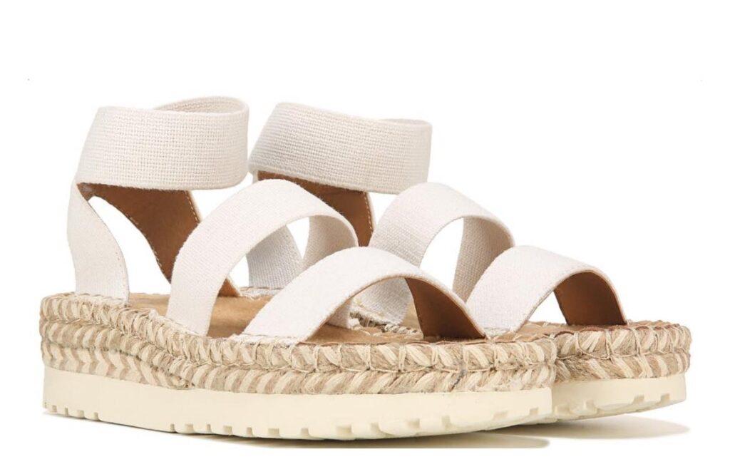 White Women's Kolton Espadrille Platform Sandal