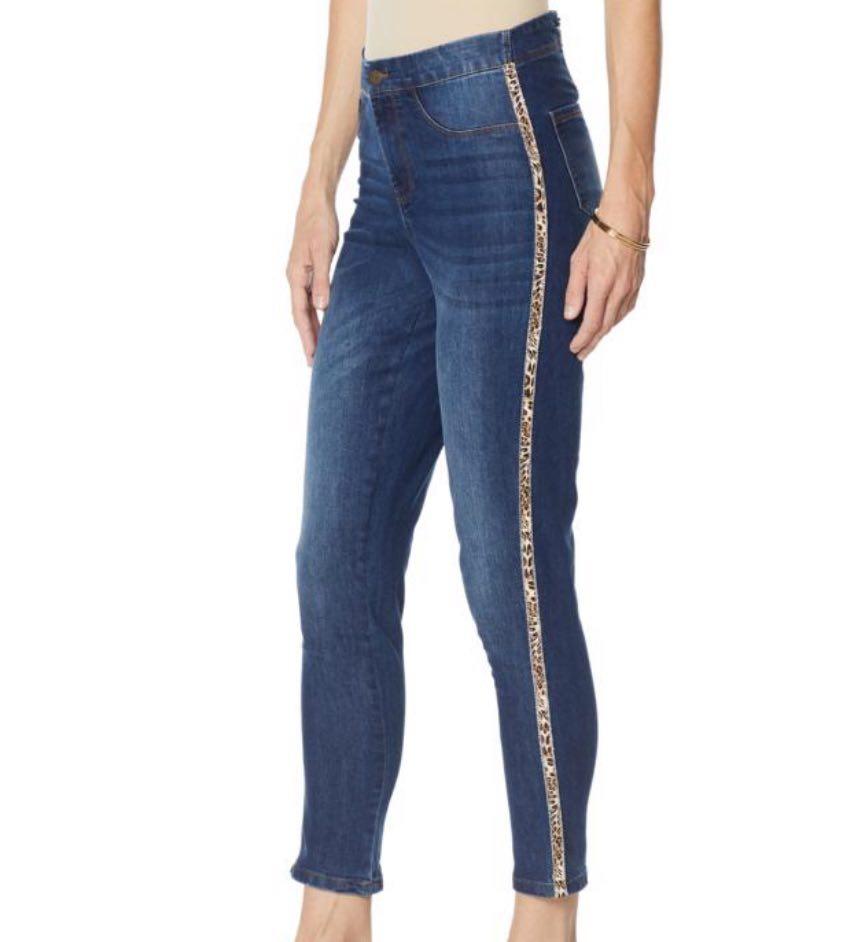 Cenia New York ConVi Fashion Animal Stripe Ankle Jean