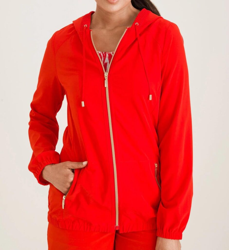 ZENERGY ACTIVEWEAR BY CHICO'S CHIC360 MESH-MIX JACKET