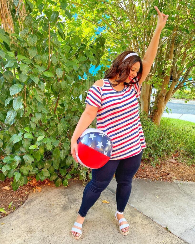 American inspired outfit