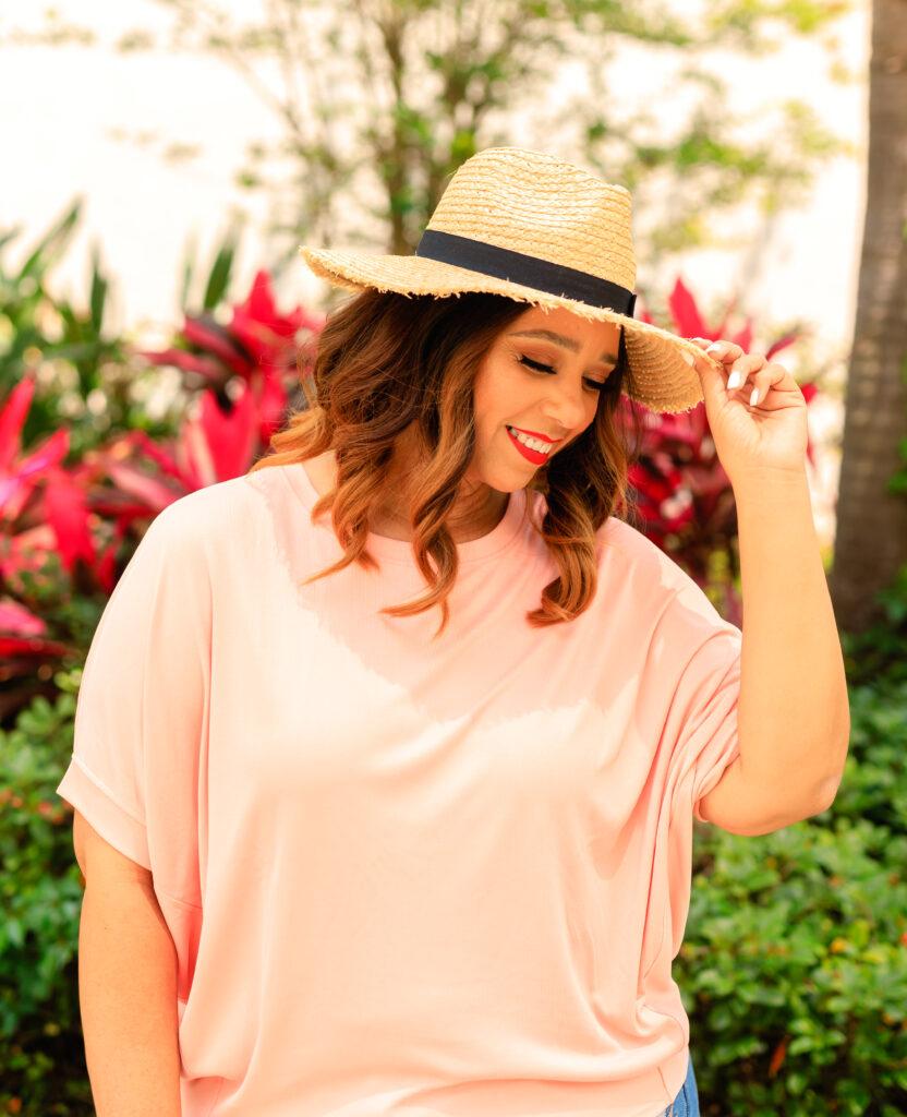 farrah estrella wearing a hat