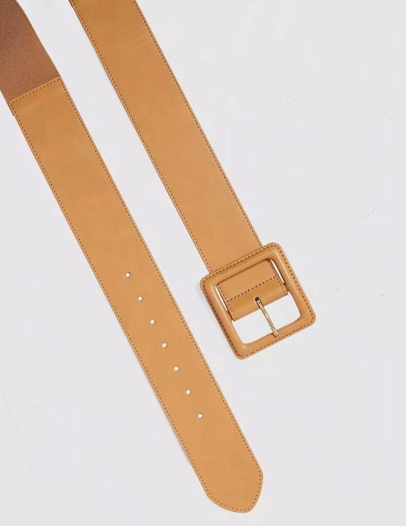 wide tan belt