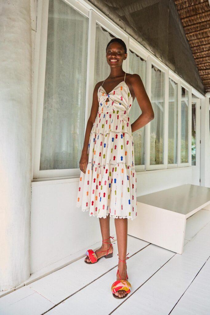 Multicolor Pineapple Midi Dress