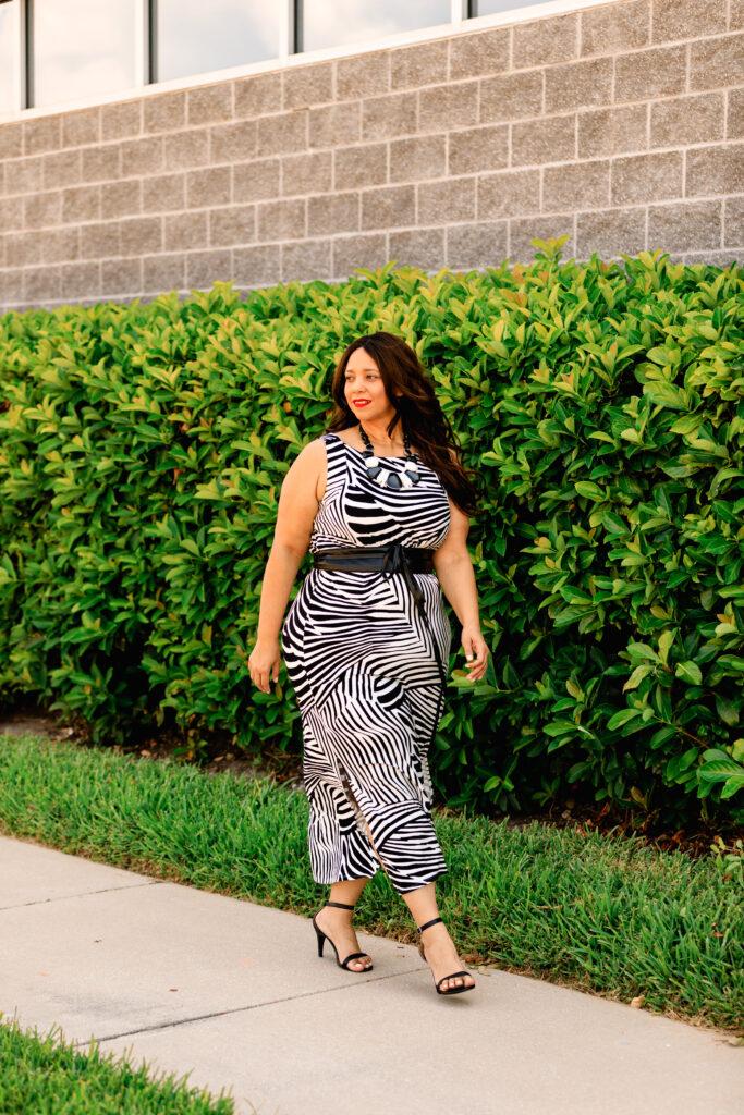 Zebra print dress from Chico's