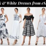 12 Black & White Dresses from eShakti