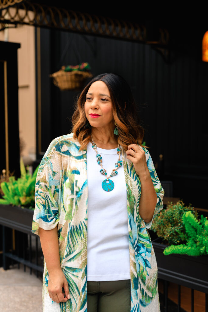 tropical print tunic from chico's