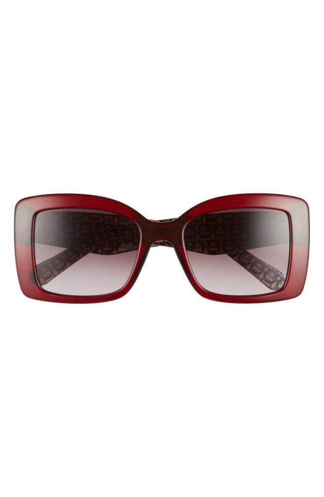 salvatorre ferragamo Classic 54mm Gradient Rectangular Sunglasses