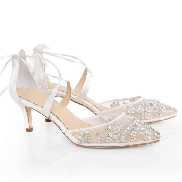 Ivory Wedding Crystal Studded Heels