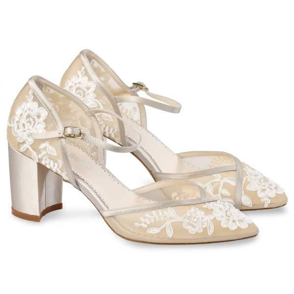 Lace Block Heels
