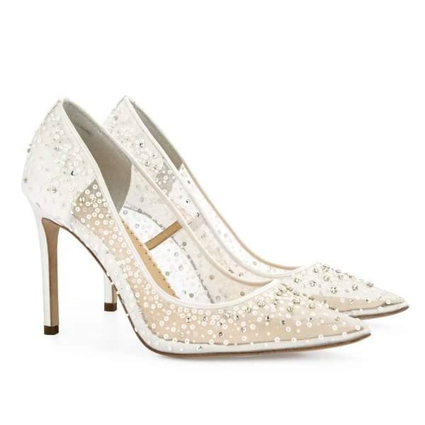 Sequin Studded High Heels
