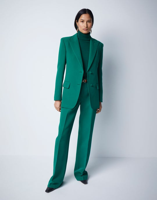 emerald green blazer and pant
