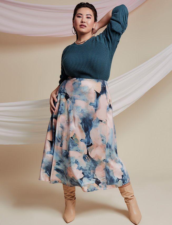 full satin skirt