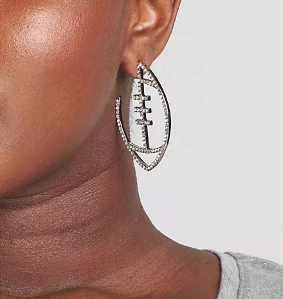 Football Shaped Earrings